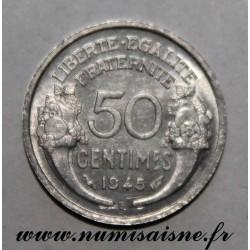 FRANCE - KM 894 - 50 CENTIMES 1945 B - Beaumont le Roger - TYPE MORLON