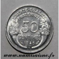 FRANCE - KM 894 - 50 CENTIMES 1945 C - Castelsarrasin - TYPE MORLON