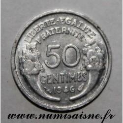 FRANCE - KM 894 - 50 CENTIMES 1946 - TYPE MORLON