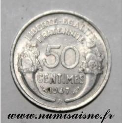 FRANCE - KM 894 - 50 CENTIMES 1947 B - Beaumont le Roger - TYPE MORLON