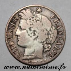 FRANCE - KM 822 - 1 FRANC 1871 K - Bordeaux - TYPE CÉRÈS