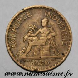 FRANCE - KM 876 - 1 FRANC 1920 - TYPE COMMERCE CHAMBER