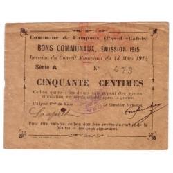 62118 - FAMPOUX - 50 CENTIMES 18.03.1915 - TTB