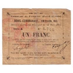 62118 - FAMPOUX - 1 FRANC 18.03.1915 - TTB