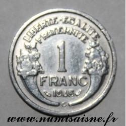 FRANCE - KM 885a - 1 FRANC 1945 C - Castelsarrasin - TYPE MORLON