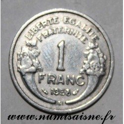 FRANCE - KM 885a - 1 FRANC 1958 B - Beaumont le Roger - TYPE MORLON