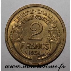 GADOURY 535 - 2 FRANCS 1938 - TYPE MORLON - KM 886