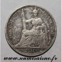 INDOCHINA - KM 9 - 10 CENT 1911 A