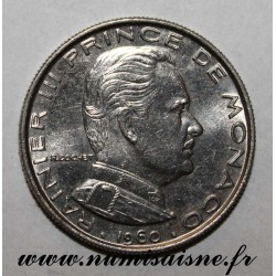 MONACO - KM 140 - 1 FRANC 1960 - RAINIER III