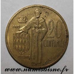 MONACO - 20 CENTIMES 1962 - RAINIER III
