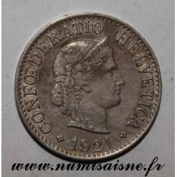 SWITZERLAND - KM 27 - 10 RAPPEN 1921 B