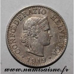 SUISSE - KM 27 - 10 RAPPEN 1919 B