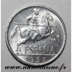 SPAIN - KM 766 - 10 CENTIMOS 1953