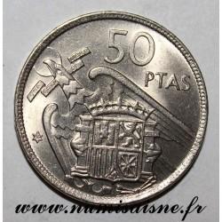 SPANIEN - KM 788 - 50 PESETAS 1957