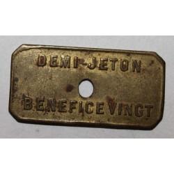 FRANCE - 59 - LILLE - DEMI-JETON - L'INDEPENDANTE - BENEFICE VINGT