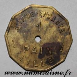 FRANCE - 59 - LILLE - 1 PAIN - L'INDEPENDANTE - Var. 27mm