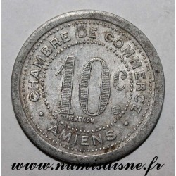 FRANCE - 80 - AMIENS - 10 CENT 1921 - COMMERCE CHAMBER