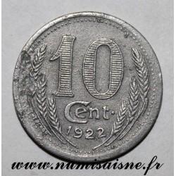FRANCE - 28 - EURE ET LOIR - 10 CENT 1922 - CHAMBRE DE COMMERCE
