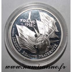 FRANCE - KM 1014 - 1 FRANC 1993 - CENTENAIRE DU DEBARQUEMENT - OCCASION