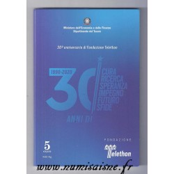 ITALIE - 5 EURO 2020 - 30 ANS DU TELETHON - COINCARD
