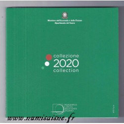 ITALIE - COFFRET EURO BRILLANT UNIVERSEL 2020 - 8 PIECES (3.88 euros)