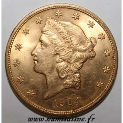 ÉTATS UNIS - KM 74 - 20 DOLLARS 1904 - Philadelphie - LIBERTY HEAD - DOUBLE EAGLE