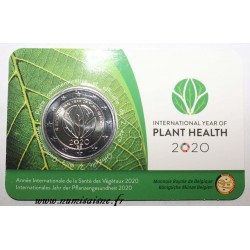 BELGIUM - 2 EURO 2020 - INTERNATIONAL YEAR OF PLANT HEALTH - Coincard FR / FL