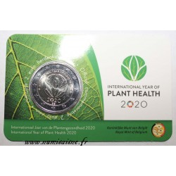 BELGIUM - 2 EURO 2020 - INTERNATIONAL YEAR OF PLANT HEALTH - Coincard FL / FR