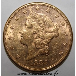 ÉTATS UNIS - KM 74 - 20 DOLLARS 1883 S - San Francisco - LIBERTY HEAD - DOUBLE EAGLE