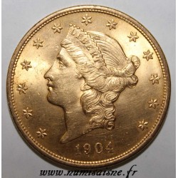 UNITED STATES - KM 74 - 20 DOLLARS 1904 - Philadelphia - LIBERTY HEAD - DOUBLE EAGLE