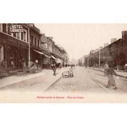 County 59220 - DENAIN - THE STREET OF VILLARS AFTER THE WAR