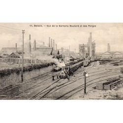 County 59220 - DENAIN - THE STREET OF THE HOUTARD GLASSWORKS AND FORGES