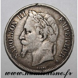 FRANCE - KM 799 - 5 FRANCS 1870 A Paris TYPE NAPOLEON III