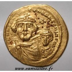 610 - 613 - HERACLIUS CONSTANTIN ET HERACLIUS - SOLIDUS - OR