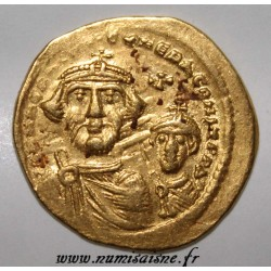 610 - 613 - HERACLIUS, CONSTANTINE AND HERACLIUS - SOLIDUS - GOLD