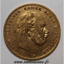 GERMAN STATES - PRUSSIA - KM 507 - 10 MARK 1873 B - OR
