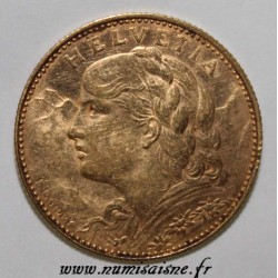 SWITZERLAND - KM 36 - 10 FRANCS 1913 - GOLD