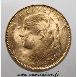SWITZERLAND - KM 36 - 10 FRANCS 1922 - GOLD