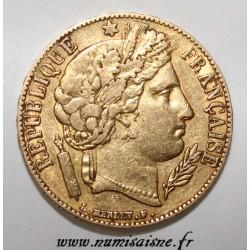 FRANCE - KM 762 - 20 FRANCS 1851 - TYPE CÉRÈS - GOLD