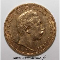 ALLEMAGNE - PRUSSE - KM 516 - 20 MARK 1889 A - Berlin - WILHELM II - OR