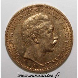 GERMAN STATES - PRUSSIA - KM 516 - 20 MARK 1889 A - Berlin - WILHELM II - GOLD