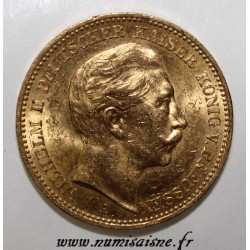 GERMAN STATES - PRUSSIA - KM 521 - 20 MARK 1890 A - Berlin - WILHELM II - GOLD