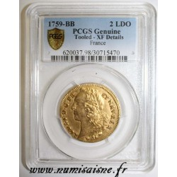 GAD 346 - LOUIS XV - DOUBLE LOUIS D'OR AU BANDEAU - 1759 BB - Strasbourg - PCGS XF DETAILS - Tooled