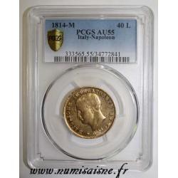 ITALY - KM 12 - 40 LIRE 1814 M - Milan - NAPOLEONE IMPERATORE - GOLD