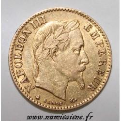 FRANKREICH - KM 800 - 10 FRANCS 1866 A Paris - TYPE NAPOLÉON III - GOLD