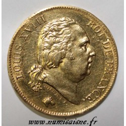 FRANCE - KM 713 - 40 FRANCS 1818 W - Lille - GOLD - TYPE LOUIS PHILIPPE Ist