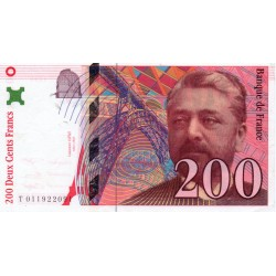 FRANCE - 200 FRANCS EIFFEL 1996 - TYPE 1995 - PICK 159