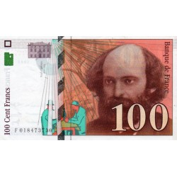 FRANCE - PICK 158 - 100 FRANCS CEZANNE - 1997 - SPOTTED