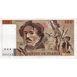 FRANCE - PICK 154 - 100 FRANCS DELACROIX - 1993