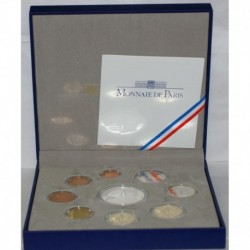FRANCE - PROOF COIN SET EURO 2011 - 9 COINS ( 13.88 euros )